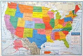 picture of united states map with states and capitals superior mapping company united states poster size