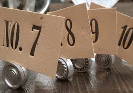 wedding table numbers with a unique twist