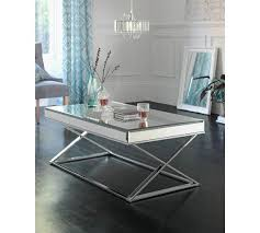 Mirrored Top Coffee Table Of House Piazzo Mirrored Top Coffee Table In Aston West