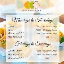 Sofitel Buffet Price by The Food Club Manila In Bluebay Walk Joei U0026 Me