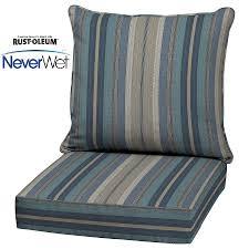 Lowes Patio Furniture Replacement Cushions - shop allen roth stripe blue glenlee stripe blue stripe deep seat