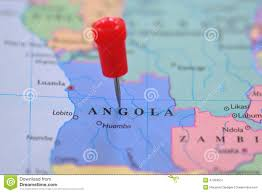 Angola Map Africa Road Map Stock Vector Image 43450264