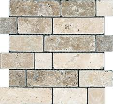 chiaro noce random brick tumbled mosaics renovations