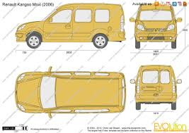 renault kangoo 2002 the blueprints com vector drawing renault kangoo maxi
