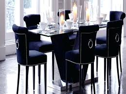 oak dining table with velvet chairs silver room ireland marble