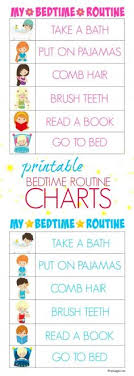 printable evening schedule printable morning routine visual schedule visual schedules