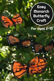 Butterfly Crafts For Kids To Make - monarch butterfly craft with painted coffee filters happy hooligans