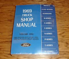 1969 ford truck shop service manual vol 1 2 3 4 set 69 u2022 78 00