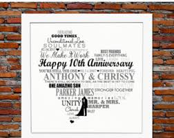 tenth anniversary gifts 10th wedding anniversary gifts b69 on pictures gallery m97