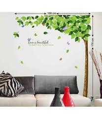 stickerskart u0026 trees pvc multicolour wall stickers buy