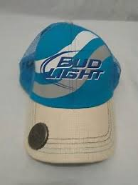 hats with lights built in bud light budweiser baseball hat cap with built in bottle opener