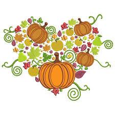 thanksgiving cornucopia applique machine embroidery design