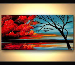 original abstract modern landscape made 1067 best arboles images on tree paintings