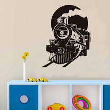 online buy wholesale train wall art from china train wall art home wall art train wall decal front view of train decal for kids bedroom decal boy