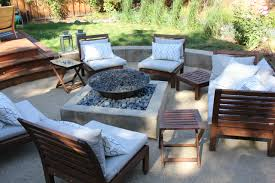 exterior design concrete fire pit to outdoor fire pit with gravel