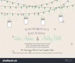 wedding card invitation wedding card invitation jars hanging stock vector 164644622