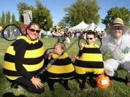 Halloween Costumes Bee Coolest Homemade Bee Family Costume Bee Family Group Halloween