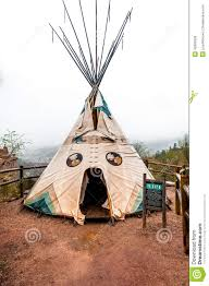 tipi at manitou cliff dwellings museum stock photo image 42693939