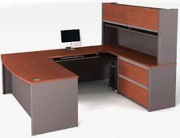 Bestar Connexion U Shape Shape Office Desk w Bordeaux  Slate