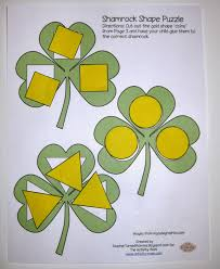 the activity mom shamrock shape puzzle printable