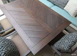 Patio Table Top Split Herringbone Patio Tabletop Deeplysouthernhome