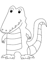 crocodile coloring page animals town animals color sheet