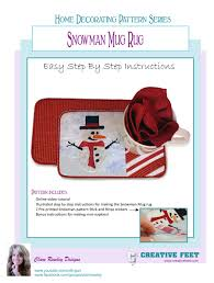 Mug Rug Designs Creative Feet Snowman Mug Rug Sewing Quilting And Embroidery