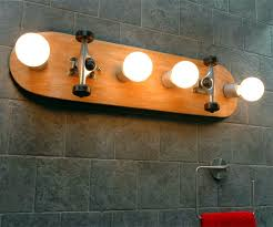 bathroom vanity light bulbs skateboard bathroom vanity light dudeiwantthat com