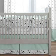 mint and gray baby woodland crib bumper carousel designs