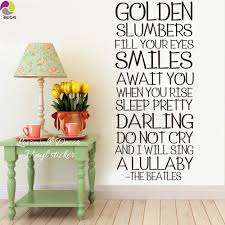the beatles song lyrics wall sticker bedroom room golden slumber the beatles song lyrics wall sticker bedroom room golden slumber inspiration song lyrics wall decal living kid room vinyl decor in wall stickers from home