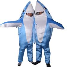 Shark Attack Halloween Costume Blue Attack Shark Costume Animal Party Cosplay Suit Mascot