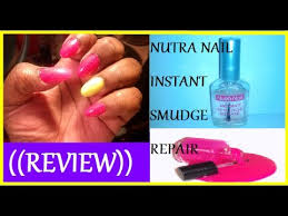 review demo nutra nail instant smudge repair youtube