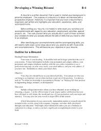 Best Title For Resume by Examples Of Resumes How Write A Essay Sample Outline For
