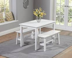 white table with bench dining table and bench sets the great furniture trading company