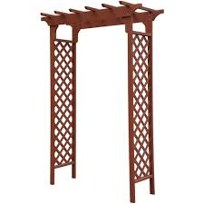 Arbors And Trellises Convenience Concepts Planters And Potts Deluxe Garden Arbor