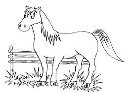 free horse coloring pages print coloring