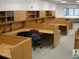 Office Desk With Cabinets Modular Office Casework Movable Millwork Storage Cabinets Photos