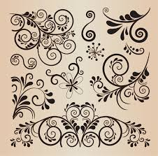 floral decorative design vector elements free vector graphics