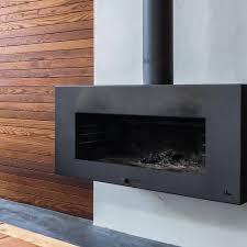 adezz corten steel enok wood burner black wall mounted