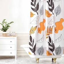 Deny Shower Curtains Buy Leaves Shower Curtain From Bed Bath U0026 Beyond