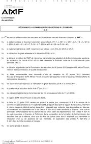 Annexe Iii Modèle D Arrêté Emportant Blâme Les Décision De La Commission Des Sanctions à L égard De M A Pdf