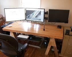 custom built surround monitor stand h ard forum