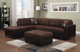 Reversible Sectional Sofa Coaster 505655 Mallory Chocolate Two Tone Reversible Sectional Sofa