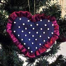 pearl on navy tree ornaments