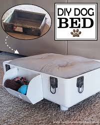 Diy Dog Bed How To Make A Diy Dog Bed From A Suitcase