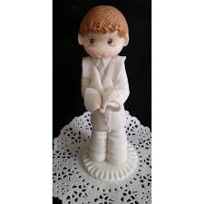 communion cake toppers praying communion girl or boy cake topper white flower
