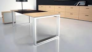 pieds bureau pied de bureau design table design rectangulaire verre pied alu
