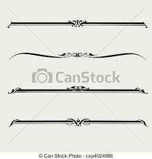 clip vector of vector ornament set detailed illustrated