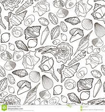 graphic seashells pattern stock vector image 69180827