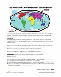 hemispheres worksheets social studies and free printables